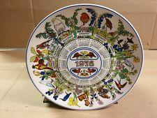Wedgwood Calendar Plate 1976 Robin and other Birds