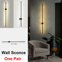 Minimalist Linear Chandelier Wall Sconce Lamp Fixture Bedroom Living Room A Pair