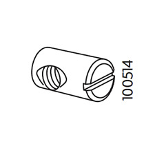 4x Ikea Cross Dowel Metric Nut Steel Part# 100514