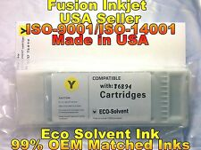 compatible Epson SureColor s30675 s50675 yellow eco solvent ink cartridge wer