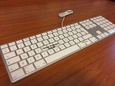 Original Apple Aluminum Wired USB Keyboard - Turkey Version Very Rare TU658-0350