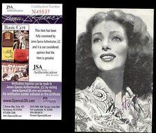 LORETTA YOUNG,  ACTRESS (DECEASED) SIGNED 5x7 JSA COA #N45537
