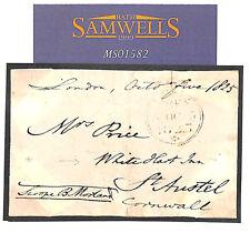MS1582 1825 GB COACHING FREE Front Addressed *White Hart Inn*St.Austell Cornwall