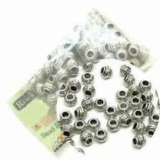 95 Rondelle Beads Spacers 8x6mm Antique Sliver Metal Zinc 4mm Hole