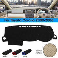Car Dashboard Mat Dash Cover Pad Dashmat Black For Toyota Corolla 2000-2006