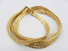 "Napier Gold Tone Textured Herringbone Necklace 24"" N116"