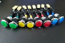 LED chrome arcade push button 4 Colors w/ micro switch Lot of 8 Back in Stock