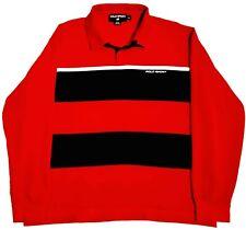 New listing Vtg 90s POLO SPORT RALPH LAUREN L/S Striped Rugby Shirt   Spellout   (Men's XL)
