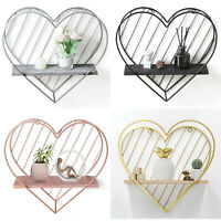 Wall Mounted Metal Wire Storage Basket Shelf Rack for Home Office Kitchen Decor