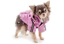 Ancol Small Bite Dog Rain Coat Waterproof Mac Jacket & Hood Pink Various Sizes Size XS