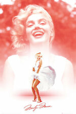 Marilyn Monroe Poster Laughing Dress Classic Iconic Art Print 24x36
