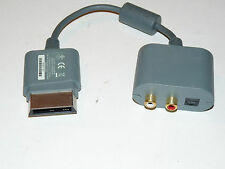 OFFICIAL MICROSOFT XBOX 360 AUDIO ADAPTER X808221-001 TESTED WORKS