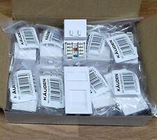 10x Kauden CAT6 RJ45 Data Modules 25x50mm Fit in all Universal Faceplates White