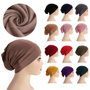 Modal Headscarf Inner Hijab Cap Bonnet Turban Girls Warm Beanie Hat Head Covers