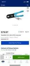 """SharkBite PEX Crimp Tool Kit 865894 for 1/2"""" & 3/4"""" Copper Crimp Rings - NEW"""