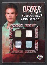 DEXTER SEASON 3 Breygent SDCC COSTUME CARD Has 4 Costume Swatches ALL DEXTER'S