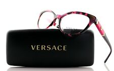 New Authentic VERSACE Pink Havana Medusa Womens EyeGlasses Frame VE 3219-Q 5040