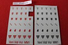 Veni Vidi Veci 25mm Transfers Sheets Bretonnian Knights Empire Fighters Crusade