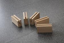 5 Stck Visitenkartenständer massiv Buchenholz 10x5,3x3 cm  neu Prospektständer