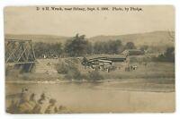 RPPC D&H Delaware & Hudson Railroad Wreck SIDNEY NY New York Real Photo Postcard