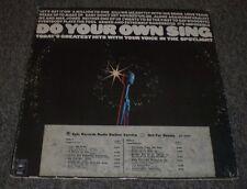 Do Your Own Sing~RARE White Label Promo 1973 Karaoke Tracks~Lyric Insert~FAST!!!