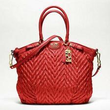 Coach Madison Quilted Chevron Nylon Sophia Large Satchel Shoulder Bag 18634 Red