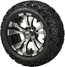 4 Golf Cart 23x10-14 All Terrain DOT Tire on  14x7 Blk/Machined Vampire Wheel
