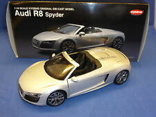 Kyosho Audi R8 Spyder Silver Die Cast Model Car  Item Number 09217S Boxed