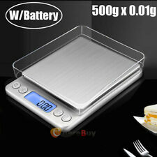 500gx 0.01g Digital Jewelry Weighing Balance Food Scale Kitchen g/oz/gn/ct/ozt