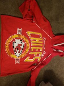 New Junk Food Kansas City Chiefs  Women's Hoodie belly shirt Size XS