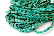Genuine Natural Turquoise Smooth Rough Nugget Chip Loose Gemstone Beads - PGS260