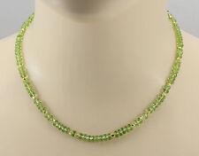 Peridot Kette - maigrüner Peridot facettiert Halskette für Damen 45 cm lang