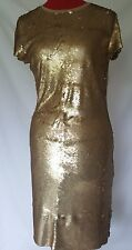 Michael Kors Gold Sequin Metallic Womens Small Dress NWT $295