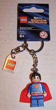 LEGO DC Universe Superheroes SUPERMAN Key Chain NEW (853430)
