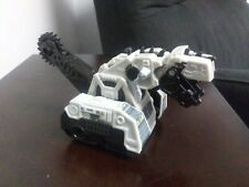 Dinotrux Rare Diecast D-Structs Push And Go with saw blade tail Gray 8""