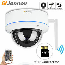 HD 720P Wireless Outdoor Dome Wifi 1.0MP Onvif Network Security IP Camera 16G TF