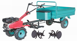 Einachsschlepper schlepper grubber traktor 7.5PS + Anhänger