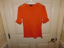 Lauren Ralph Lauren Women's 3/4 Sleeve Orange Casual Shirt Size M