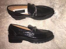 70c0a936ef8 rag   bone  Curtis  Black Leather Loafer Womens Size ...