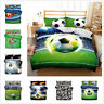3D Football Soccer Quilt Cover Bedding Set Comforter/Doona Duvet Cover Pillowcas