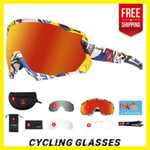 Polarized Photochromic Sports Men's Glasses Cycling Goggles Bicycle Bike Eyewear