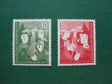BRD 1952 MiNr 153-154 postfrisch, tief gepr. Schlegel BPP, M€ 45,- (B252)
