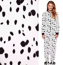 NWT Black White Dalmatian Spotted Dog Footed Pajamas M L XL or XXL ALMOST GONE