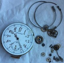 Quarter Repeater Pocket Watch movement & dial repeater work some parts missing