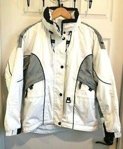 Women's Marker Celtech White Hooded Snow Ski Snowboard Jacket Coat Size 8