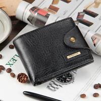 Men PU Leather Small ID Credit Card Wallet Holder Slim Pocket Case CB