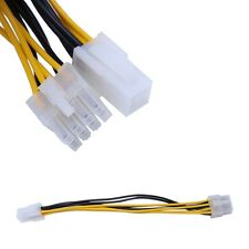 ATX 4-Pin Male To 8-Pin Female CPU Board Power Supply Converter Adapter Cable x1