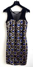 FORMULA JOVEN Sequin Schwarz NEU Kleid Gr 42 Paillettenkleid Stretch UVP€49,95