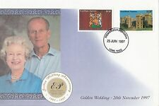 (43430) Togo FDC Queen Royal Golden Wedding 25 June 1997