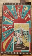 New listing Cigar Tobacco Felt Native American Scene Hunting Tools 1910 Vintage